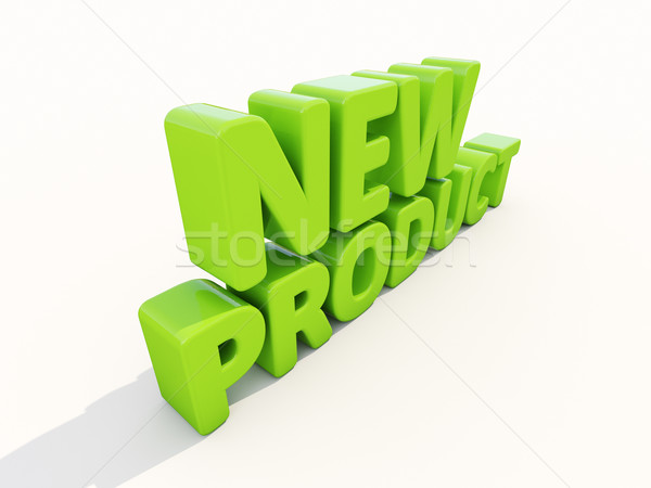 3D nieuwe product icon witte 3d illustration Stockfoto © Supertrooper