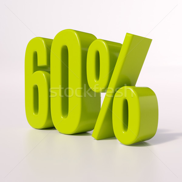 Percentage sign, 60 percent Stock photo © Supertrooper