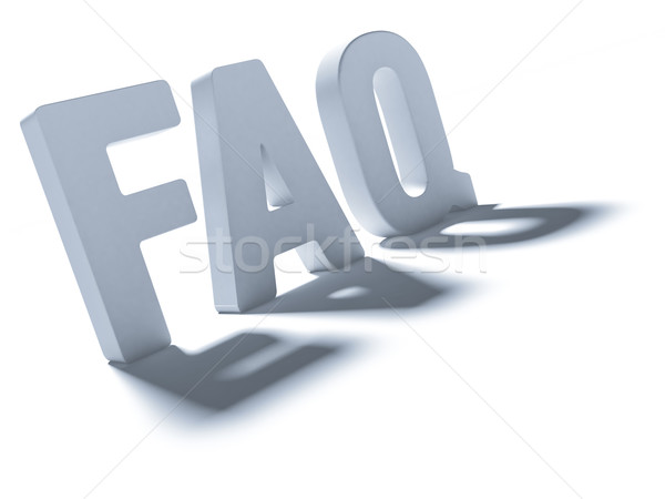 Acronym FAQ Stock photo © Supertrooper