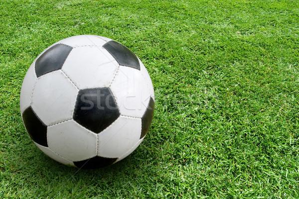 Soccer ball terra immagine spazio Foto d'archivio © Supertrooper