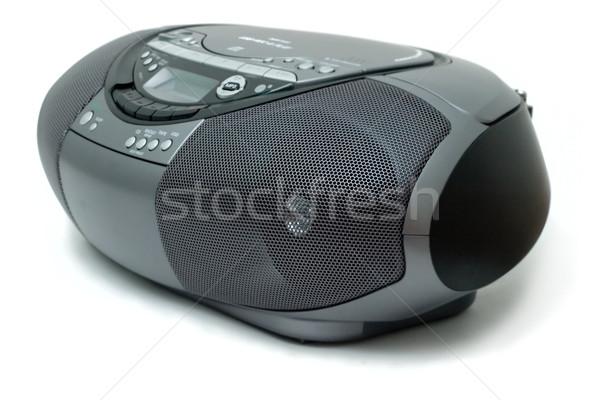 Cd radio nuovo stile portatile musica Foto d'archivio © Supertrooper