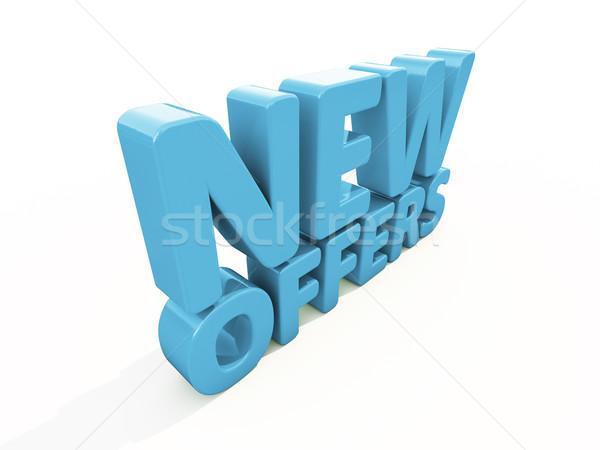 3D nieuwe icon witte 3d illustration presentatie Stockfoto © Supertrooper