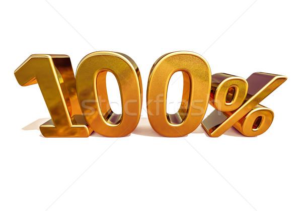 3D ouro 100 cem por cento desconto Foto stock © Supertrooper