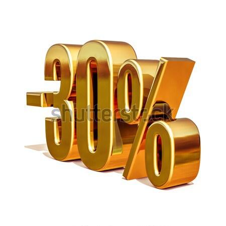 3D 金 30 パーセント 割引 にログイン ストックフォト © Supertrooper