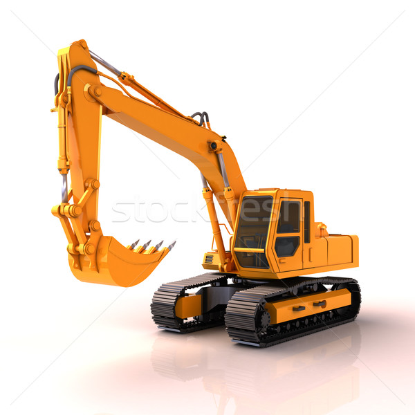 Excavator isolated Stock photo © Supertrooper