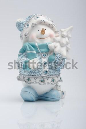Stock photo: Cheerful snowman