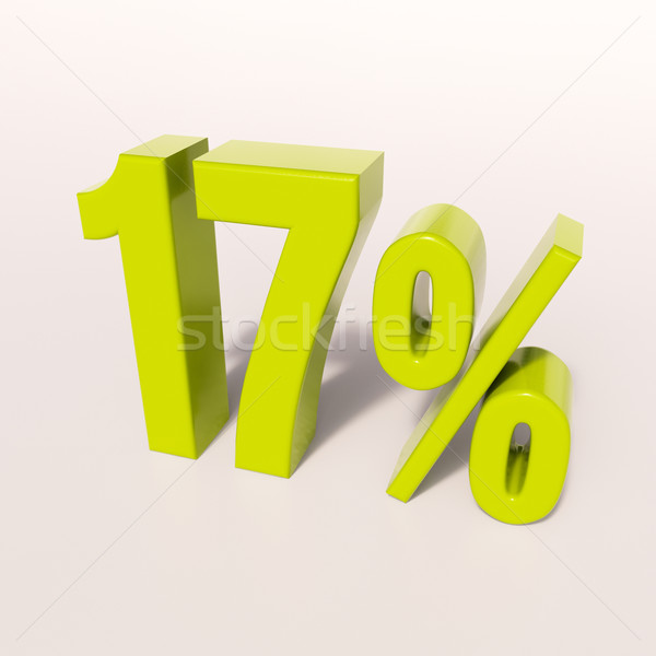 Percentage sign, 17 percent Stock photo © Supertrooper