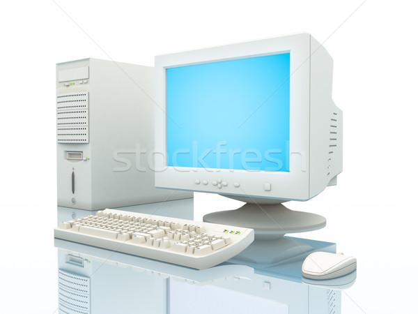 Számítógép közelkép egyszerű tipikus fény tükröződés Stock fotó © Supertrooper