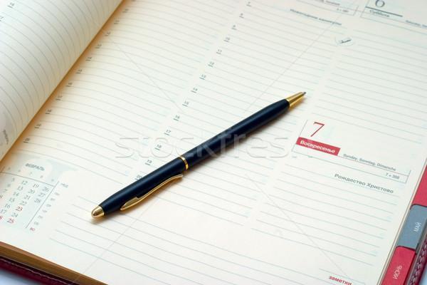 Caneta agenda negócio escritório livro reunião Foto stock © Supertrooper