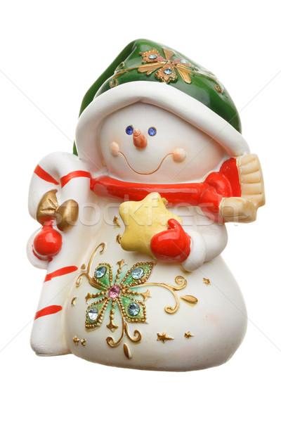 Hóember izolált fehér derűs játék üdvözlet Stock fotó © Supertrooper