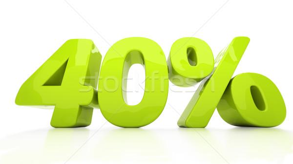 3D сорок процент скидка 40 Сток-фото © Supertrooper