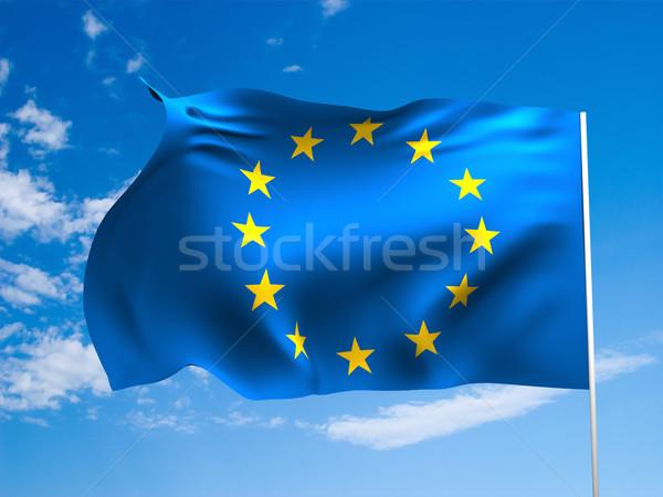 флаг Европа европейский Союза ветер Сток-фото © Supertrooper