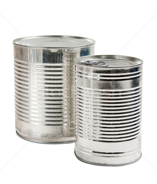 Canned food isolated Stock photo © Supertrooper