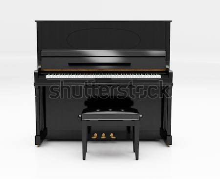 Zongora fény stúdió zene tárgy hangszer Stock fotó © Supertrooper