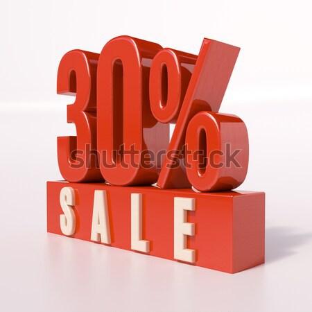 Percentage sign, 30 percent Stock photo © Supertrooper