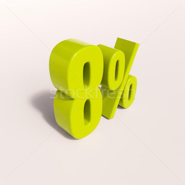 Percentuale segno cento rendering 3d verde sconto Foto d'archivio © Supertrooper