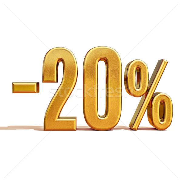 3D золото 20 двадцать процент скидка Сток-фото © Supertrooper