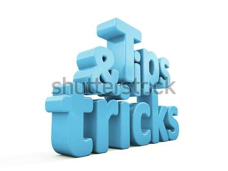 3d tips and tricks Stock photo © Supertrooper