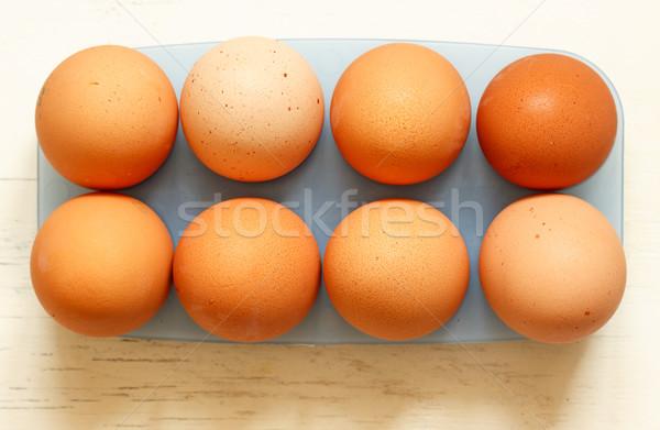 Fresh eggs Stock photo © Supertrooper