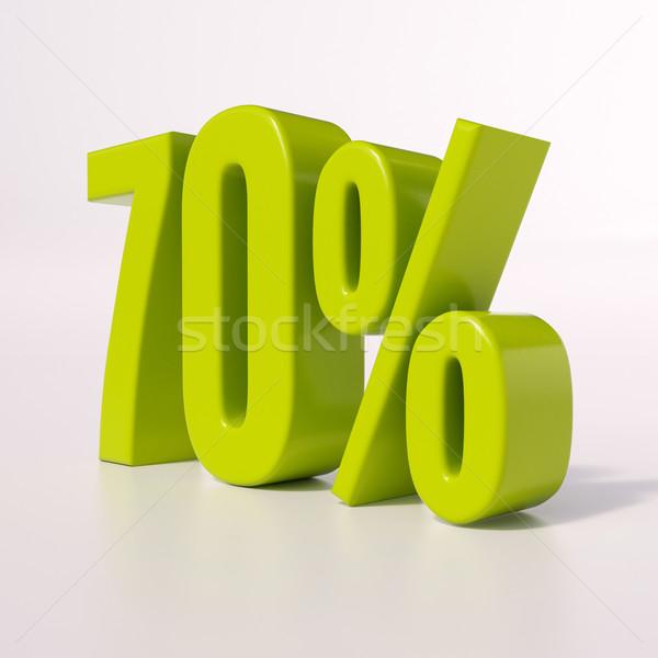 Percentage sign, 70 percent Stock photo © Supertrooper