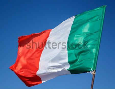 Zászló Olaszország ráncok Európa Stock fotó © Supertrooper