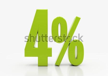 Percentuale segno 3D sconto isolato bianco Foto d'archivio © Supertrooper