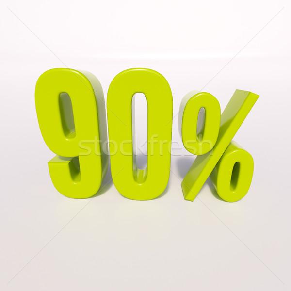 Percentage sign, 90 percent Stock photo © Supertrooper