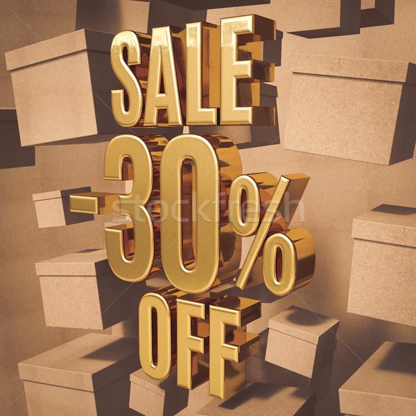 Gold Percent Sign Stock photo © Supertrooper