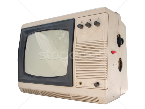 Old small TV set Stock photo © Supertrooper