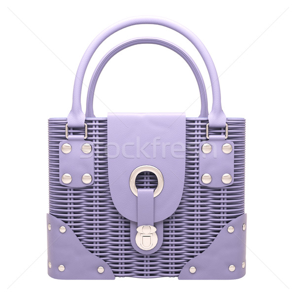 Lilac wicker handbag Stock photo © Supertrooper