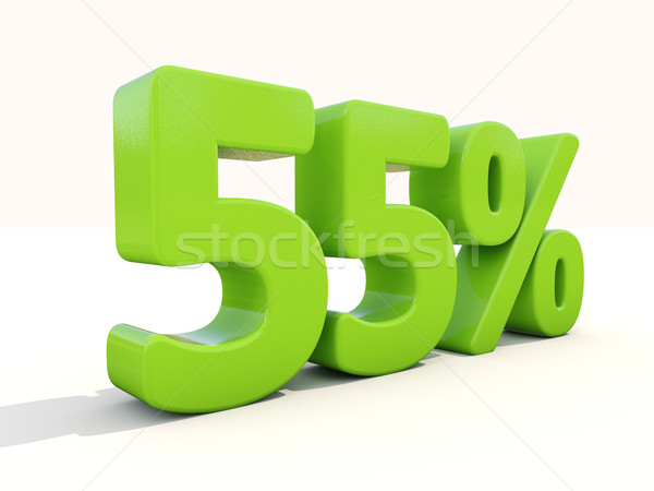 55% percentage rate icon on a white background Stock photo © Supertrooper