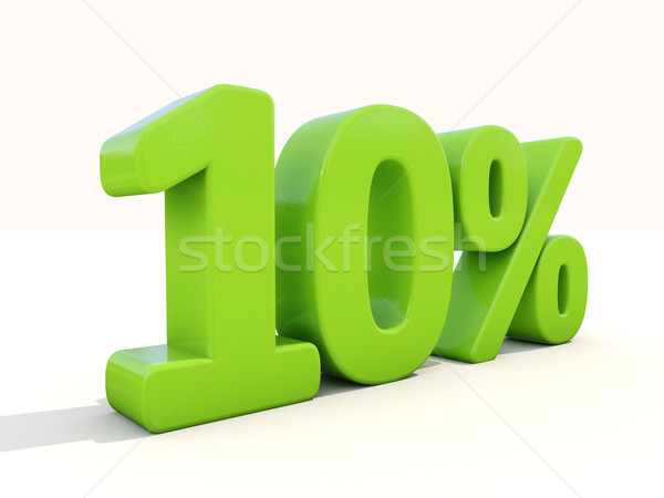 10% percentage rate icon on a white background Stock photo © Supertrooper