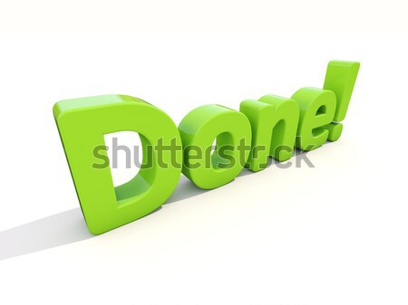 3d word done Stock photo © Supertrooper