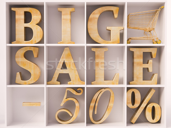 Big Sale text Stock photo © Supertrooper