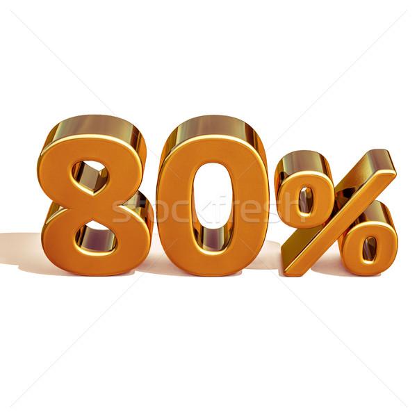 3D золото до 80 восемьдесят процент скидка Сток-фото © Supertrooper