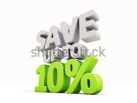 Opslaan omhoog 10 markt voorraad Stockfoto © Supertrooper