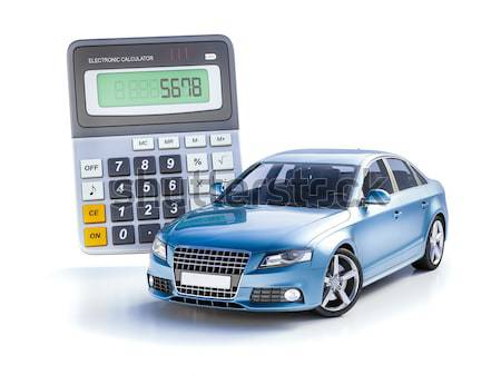 Car and calculator concept Stock photo © Supertrooper