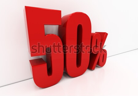 3D 60 percent Stock photo © Supertrooper