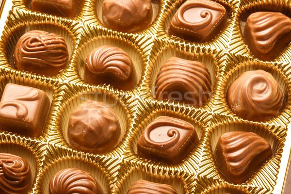 Stock fotó: Közelkép · választék · csokoládé · közelkép · lövés · doboz