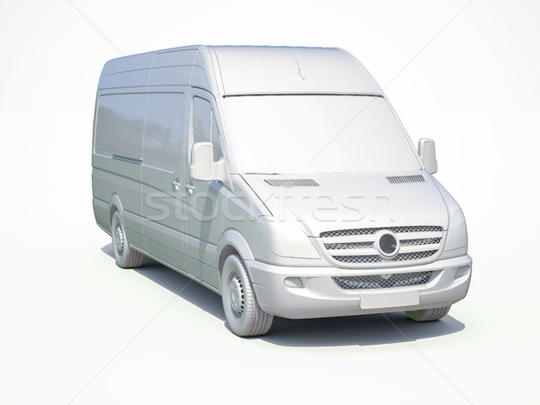 3d White Delivery Van Icon Stock photo © Supertrooper