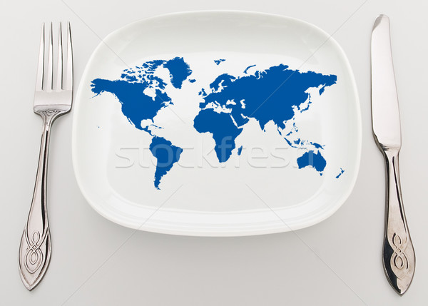 World on plate Stock photo © Supertrooper