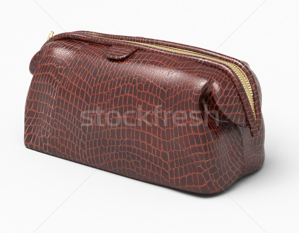 Leather clutch isolated Stock photo © Supertrooper