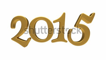 Stock photo: Gold 2015 lettering isolated