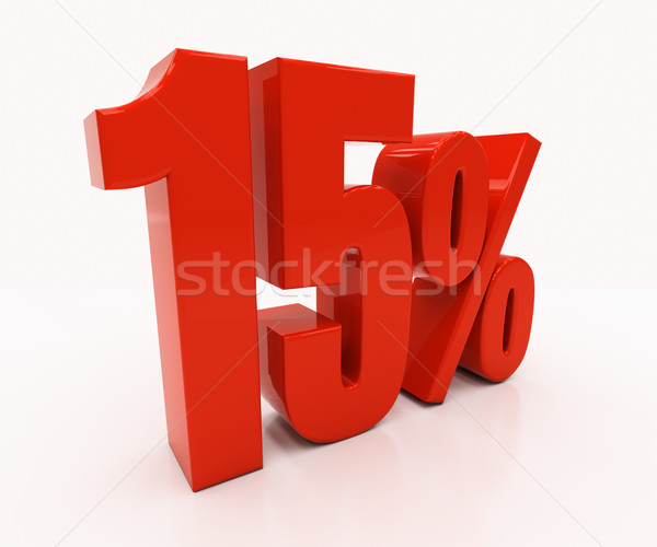 3D 15 percent Stock photo © Supertrooper