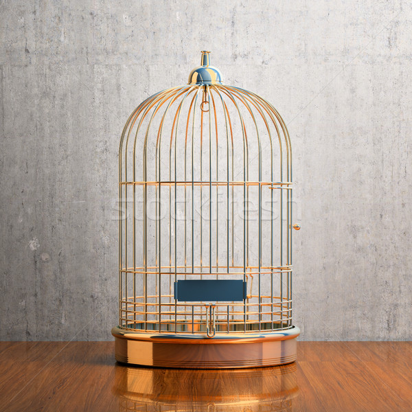 Empty gilded cage Stock photo © Supertrooper