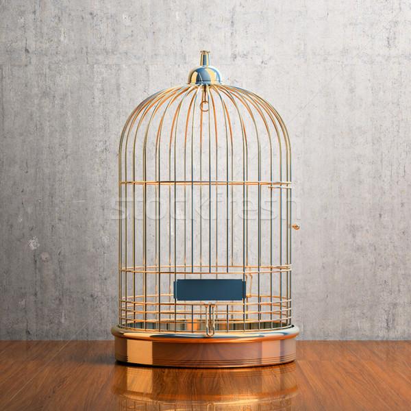 пусто клетке птица таблице Сток-фото © Supertrooper