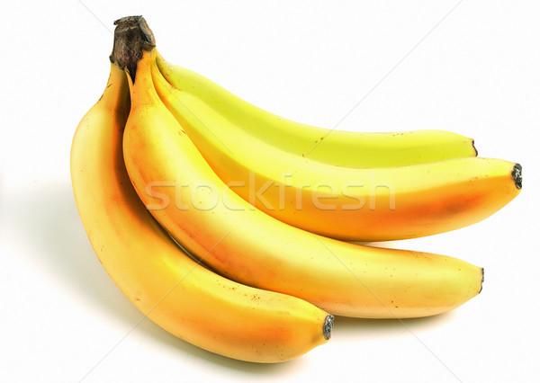Giallo maturo banane isolato bianco alimentare Foto d'archivio © Supertrooper