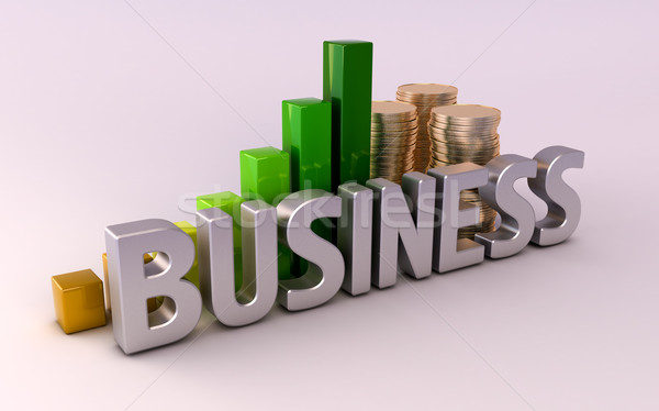 Business: information and money Stock photo © Supertrooper