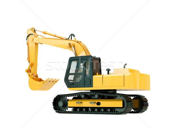Excavator isolated  Stock photo © Supertrooper