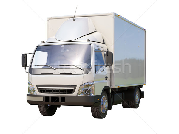 White commercial delivery truck Stock photo © Supertrooper